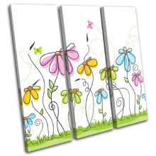 Abstract Pastel Flowers Floral - 13-1860(00B)-TR11-LO